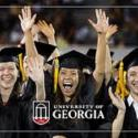 photo of UGA commencement - cheering students